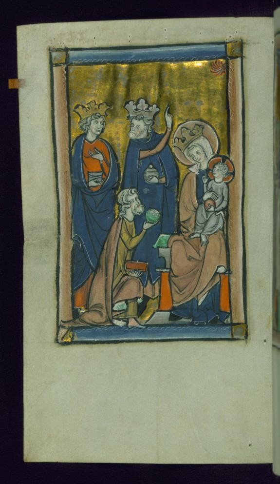 Leaf from Psalter: Adoration of Magi