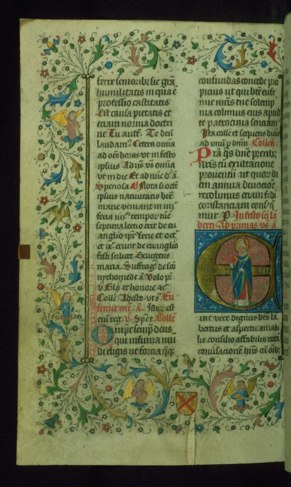 Leaf from Breviary: Saint Lambert from Sanctorale, Initial E
