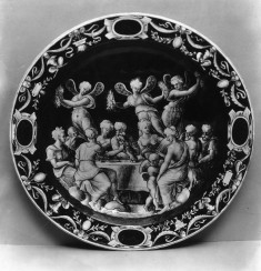 Dish with the Wedding Banquet of Cupid and Psyche