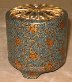 Incense Burner (Koro Jar) with Elaborate Vines and Flowers