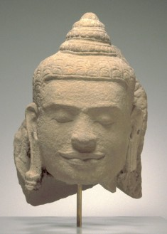 Head of the Buddha, from a Naga-Protected Buddha