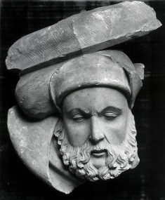 Head of a Bearded Man (architectural fragment)