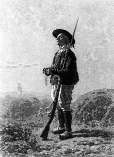 Soldier Standing in Prayer