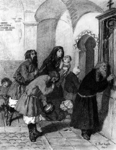 Russian Peasants Praying Before an Icon