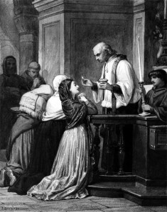 Woman Receiving the Eucharist