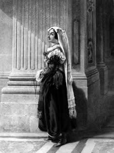 Woman in Italian Peasant Dress