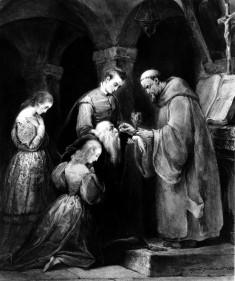 Aged Man Receiving Communion
