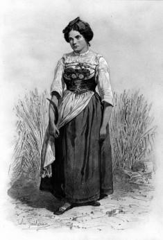 Peasant Woman in Grain Field