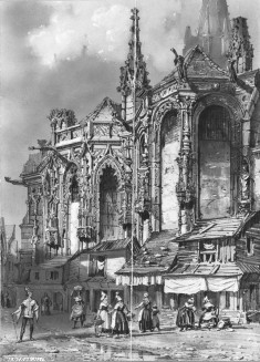 Street Scene with Gothic Building