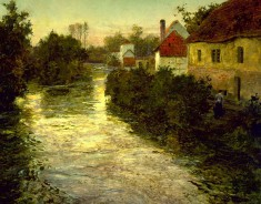 Village on the Bank of a Stream