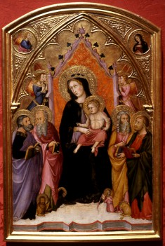 Madonna and Child with the Four Evangelists
