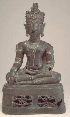 """Seated Crowned Buddha in """"Maravijaya"""""""