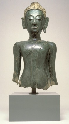 Head and Torso of a Standing Buddha
