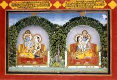 Radha and Krishna, Illustration to Poems by Shribhatta