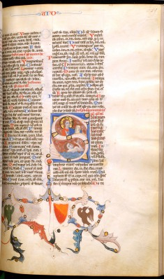 Leaf from Bentivoglio Bible