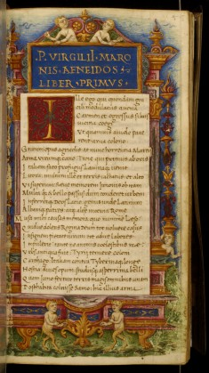 Leaf from Eclogues, Georgics and Aeneid