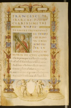 "Portrait of Petrarch in the Incipit Letter ""N"""