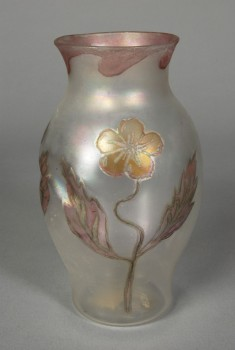 Thin Vase with Floral Decoration