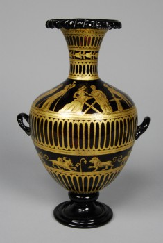 Glass Urn with Classical Scenes