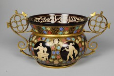 Bowl with Allegorical figures