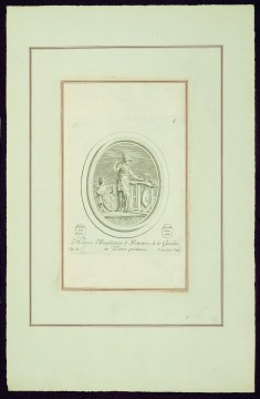 """Minerva, Benefactor and Patron of Carving on Precious Stones, from Madame de Pompadour's """"Suite of Prints"""""""