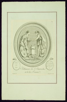 "Alliance of Austria and France, from Madame de Pompadour's ""Suite of Prints"""
