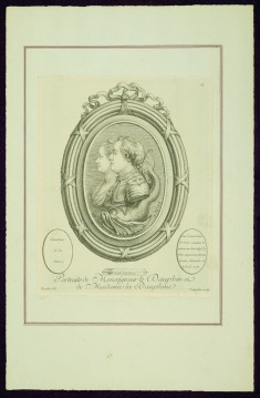 """Portraits of Monseigneur le Dauphin and of Madame la Dauphine, from Madame de Pompadour's """"Suite of Prints"""""""