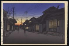 Twilight at Imamiya Street, Choshi 1932