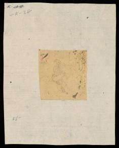 Drawing of Seated Krishna