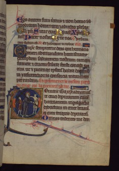 "Initial ""D"" with Carrying of the Cross"