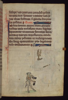 Sheep ringing bells, from a marginal cycle of images of the funeral of Renard the Fox