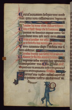 Leaf from a Book of Hours: Horse Playing aFflute and Drum, from a Marginal Cycle of Images of the Funeral of Renard the Fox