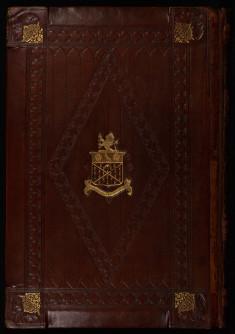 Binding from Les livres du gouvernement des roys et des princes