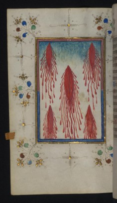 Leaf from Loftie Hours: Five Wounds of Christ
