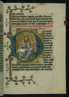 God Enthroned with an Open Book, Globe and Banner