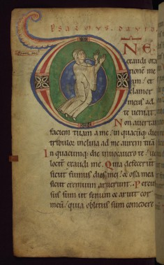 "Historiated initial ""D"" with Orant Nun"
