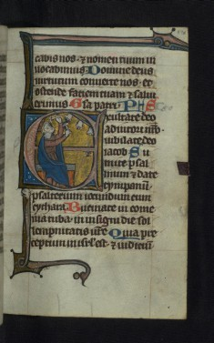 Initial E with David playing bells
