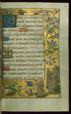 Leaf from Book of Hours: Hours of the Virgin, Monks Playing Blind-Man's Bluff