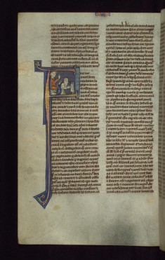 "Historiated Initial ""F"" with Hannah and Eli"