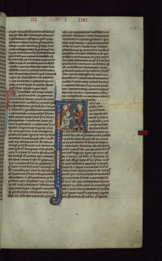 "Historiated Initial ""F"" with David and the Amalekite"