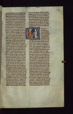 "Historiated Initial ""E"" with David with Abishag"