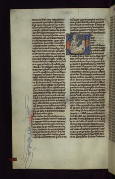 "Historiated Initial ""U"" with Job Sitting on a Dungheap"