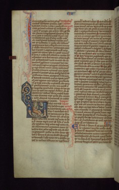 "Historiated Initial ""U"" with God Speaking to Jeremiah"