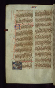 "Historiated Initial ""E"" with Ezekiel's Vision"