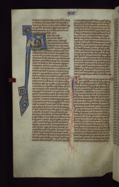 "Historiated Initial ""A"" with Daniel and the Lions"