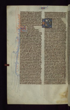 "Historiated Initial ""E"" with Jonah and the Whale"