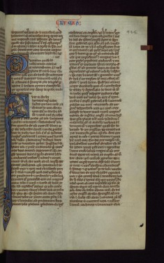 "Historiated Initial ""F"" with the Sacrifice of an Ox"