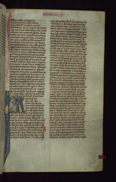 "Historiated Initial ""A"" with St. John Writing"