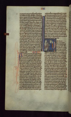 "Historiated Initial ""H"" with Moses Speaking to the Israelites"