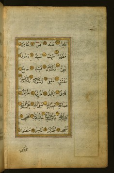 Illuminated Text Page with the Noble Names Accorded to the Prophet Muhammad